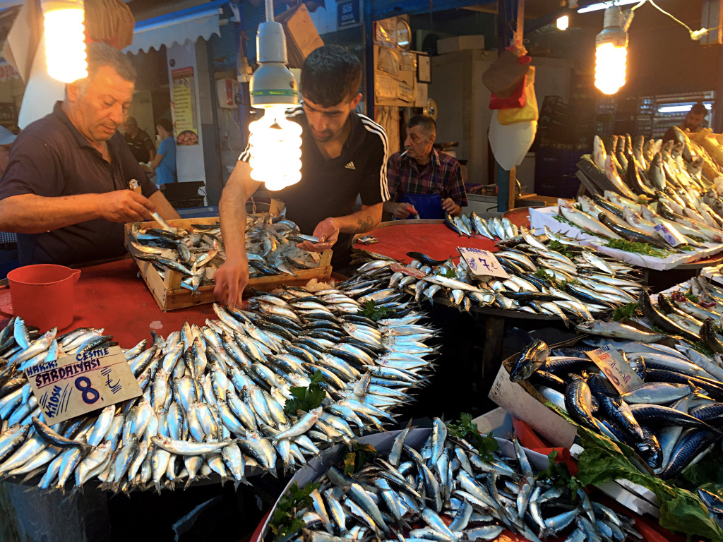 There was a little - or a lot - of everything in the bazaar, including a fish market area