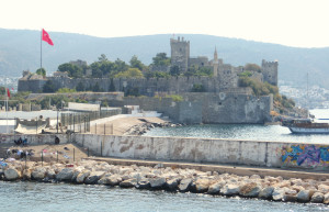 As we were pulling into Bodrum we passed the Castle of St. Peter or Petronium, built in the 15th century by those Knights of St. John we keep encountering. It is from Petronium that the current name Bodrum derives.