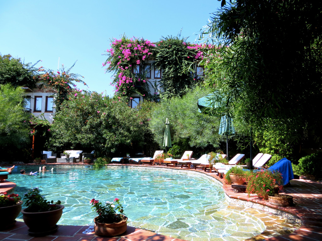 Our little hotel was an oasis of calm and coolness in the Turkish heat