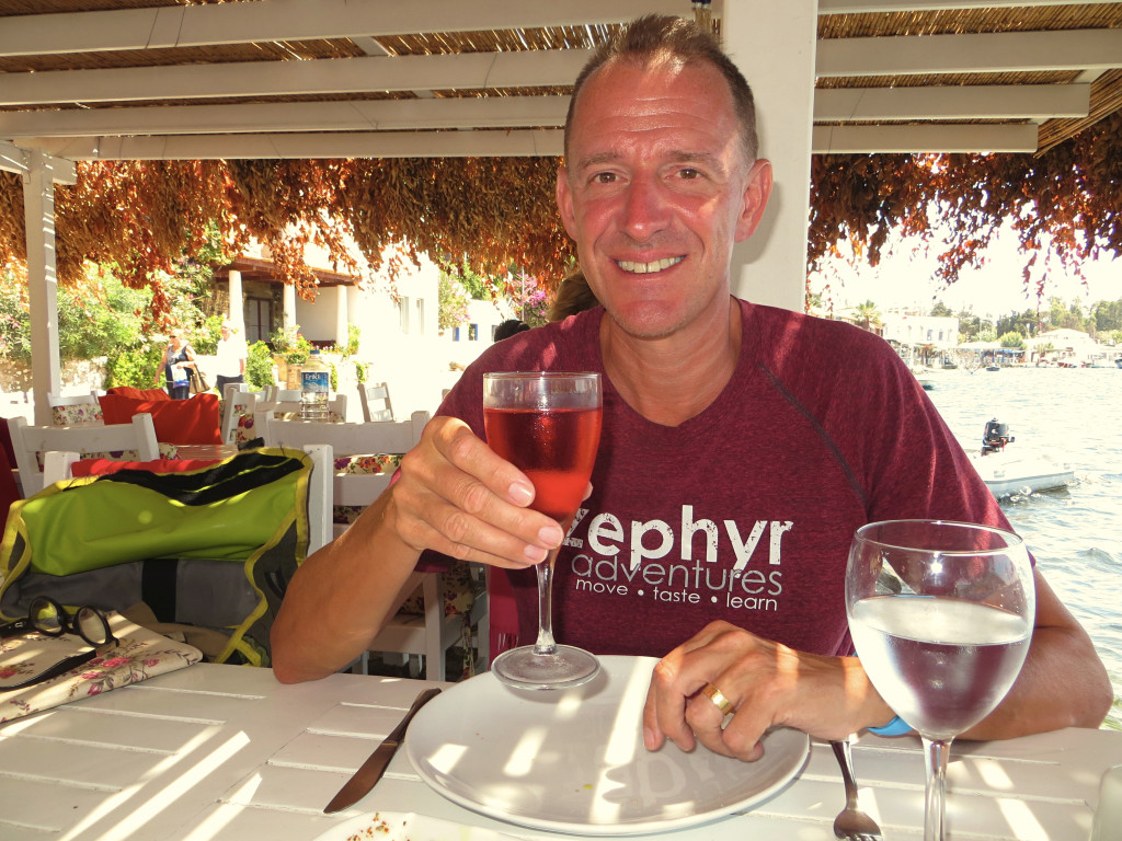 I'll leave you with a shot of Mark toasting lunch at the beach
