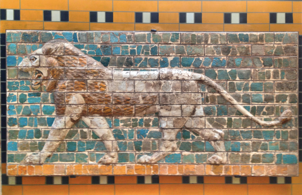 """While touring the archeology museum we saw this and said """"Hey, isn't that part of the processional way of Babel's Ishtar Gate that we saw in Berlin?"""" Sure enough, you know you're getting a good sampling of the world's museums when you see the same exhibits in different places."""