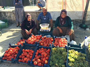 We love local markets. Here are three Turks trying to sell some of their produce.