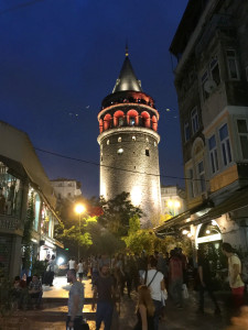 The Galata Tower, built in 1348 by the Genoans to protect their trade concession provided by the Ottomans, now stands guard over the upscale Beyoglu neighborhood