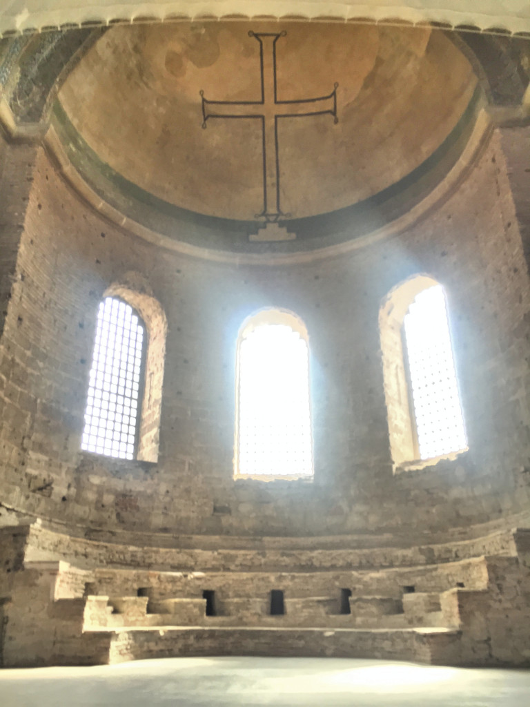 The remains of Hagia Eirene, a Byzantine church built just about the same time as Hagia Sofia