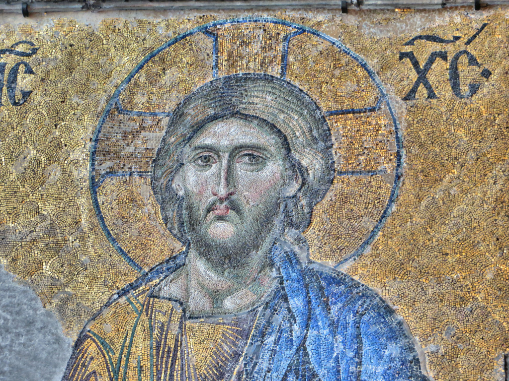 Yeah, that's Him, uncovered a few centuries after conquering Moslems converted Hagia Sofia to a mosque. There are some glorious mosaics in what is now the museum of Hagia Sophia.