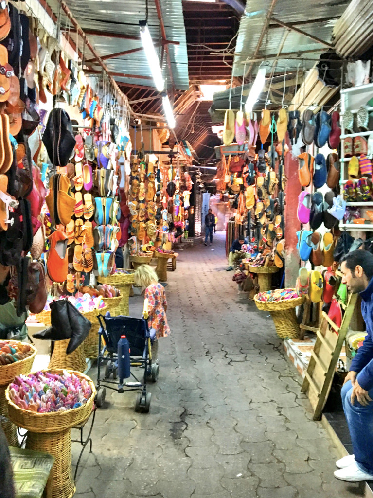 I think Jenny & Pat were better about it than we were, but we have almost no pictures inside the winding markets in the medina. Here's one though from the shoe district.