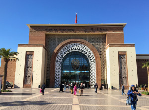 The Marrakech train station, a gleaming and beautiful example of Moorish architecture. Have I mentioned how much we enjoy traveling by train?