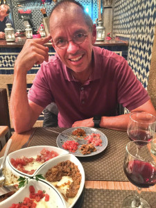 This was a great little restaurant we almost literally stumbled into in the medina. Those are samples of four Moroccan salads which were followed by some great tangines. Unfortunately we also had some pretty unexciting meals here, too.