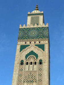 The 700-foot minaret at the Hassan II Mosque is the tallest minaret in the world. Kind of begs the question: when does a minaret become a maxaret?