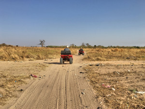 Mark and our guide rambling through the emptiness of rural Senegal