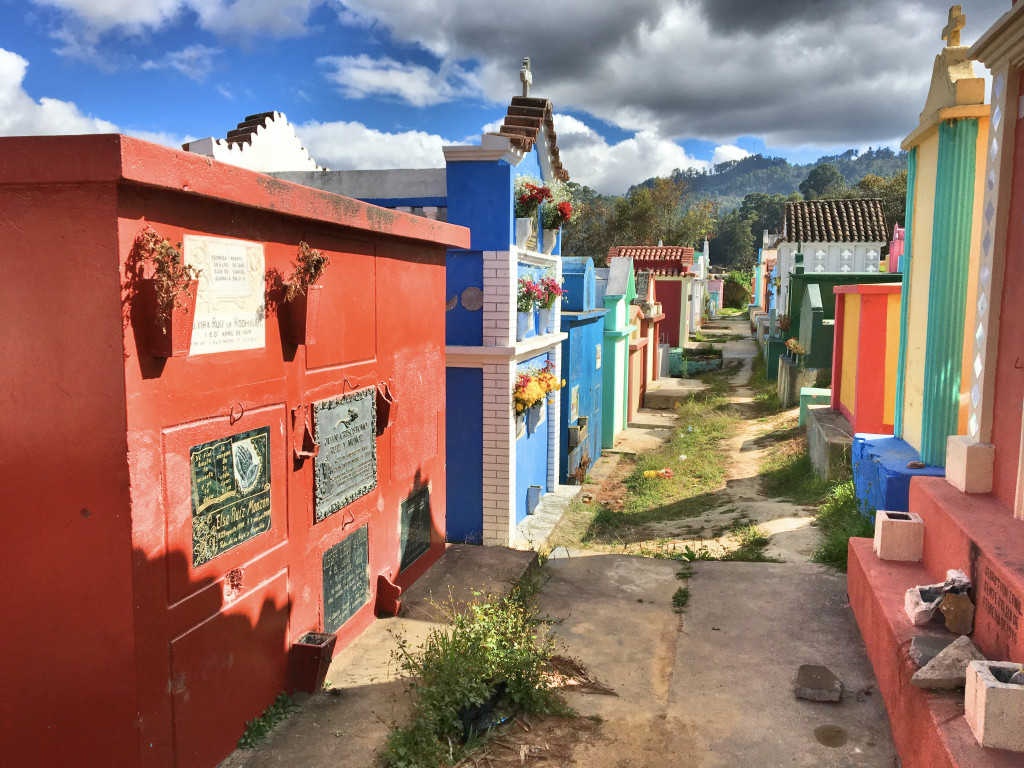 """A """"street view"""" from Chichi's cemetery."""