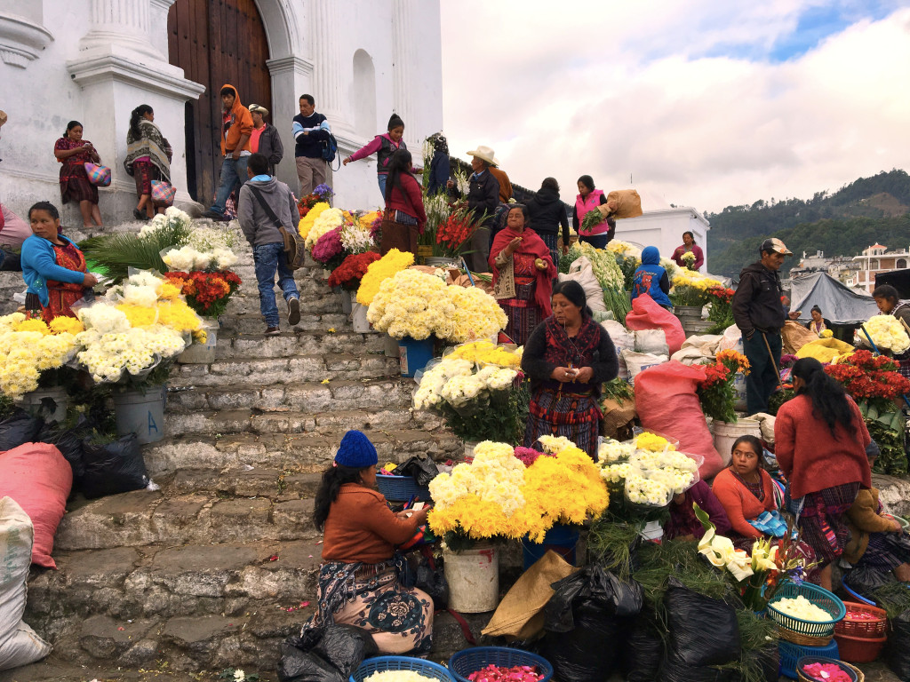 Here are some of the Lost Photos from Chichi, starting with the flower market on the steps of the church