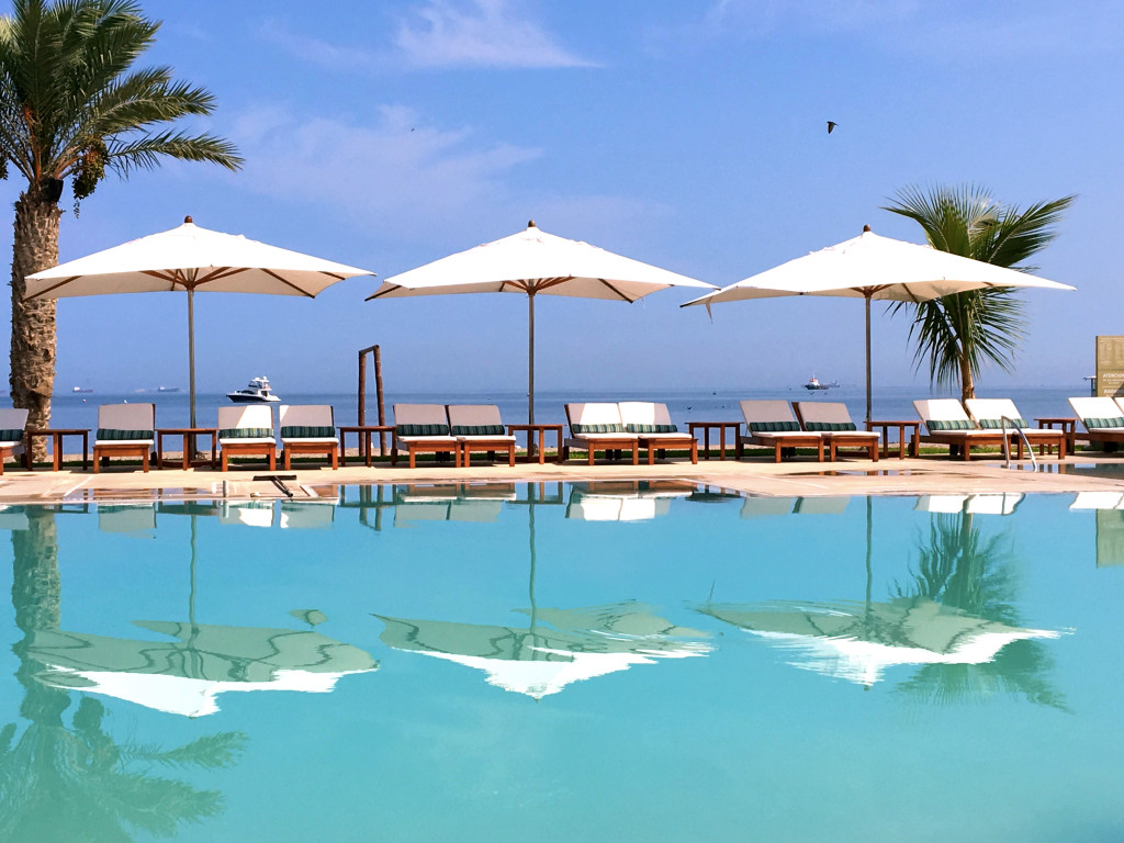 An almost deceptively beautiful shot of our hotel in Paracas. While on the coast, there was no beach for swimming so we had to settle for this pool.