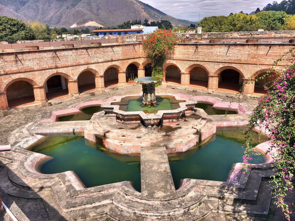 The old fountain in the ruins of the Church of Mercy was allegedly, at about 90 feet across, the biggest fountain in all of Spanish America. Pretty impressive.