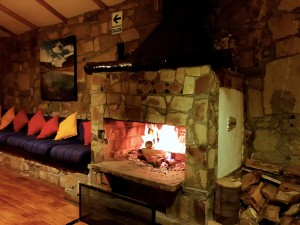 """Our blissful """"private"""" fireplace, perfect for listening to our own music and sipping scotch"""