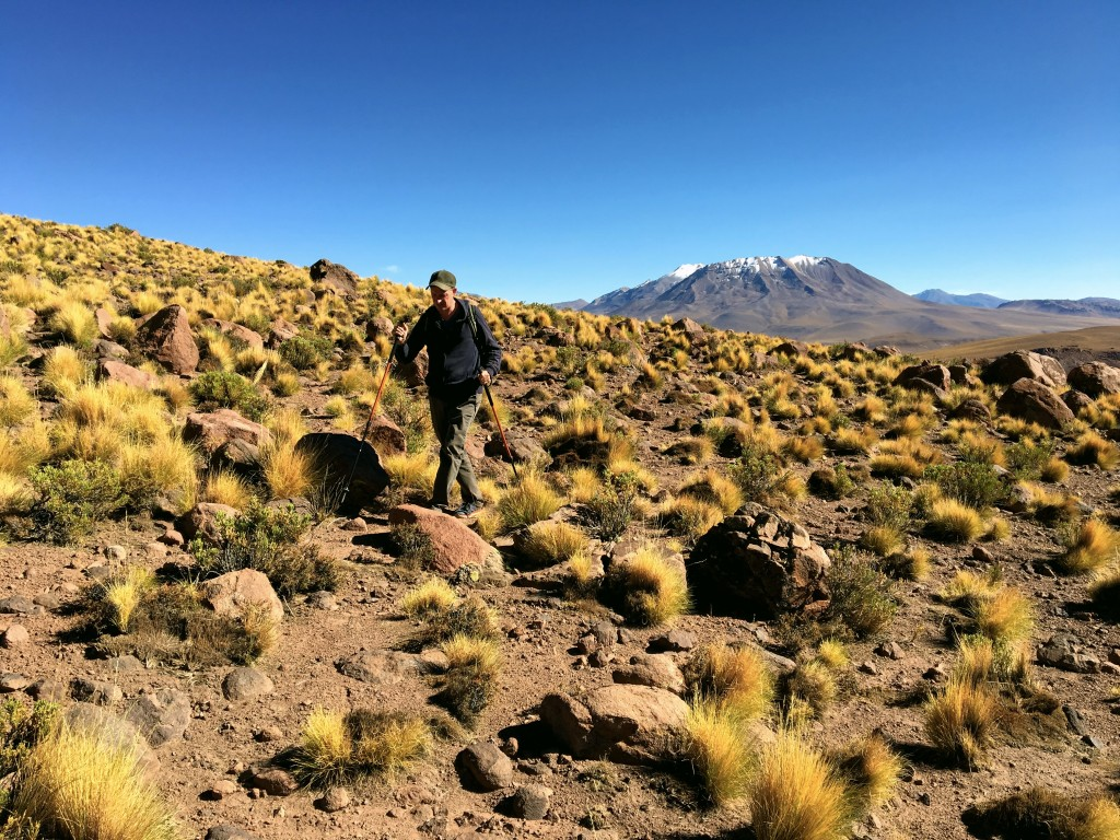 Mark making his way through the very high trails in the Atacama Desert
