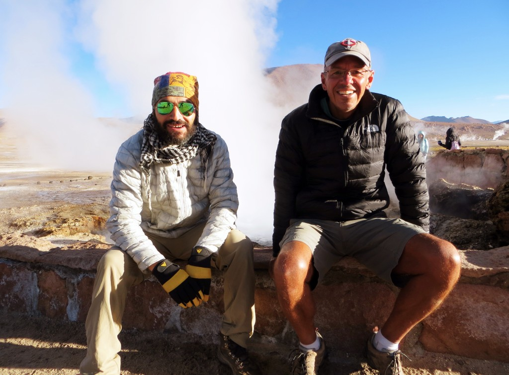 Me and our guide Danilo sitting in front of one of El Tatio's many geysers. I was careful not to lean too far back…
