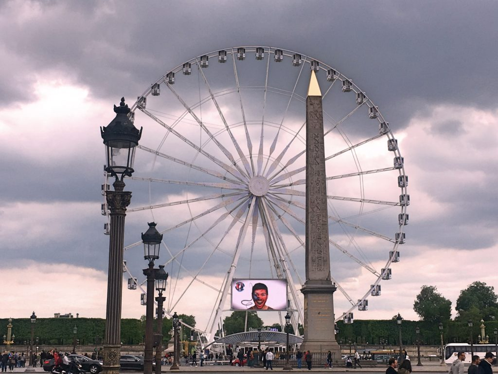 I don't know how long it'll be up - it wasn't here in October - but there's a huge ferris wheel in the Place de la Concorde. We haven't been up there yet, but we will be one of these days.