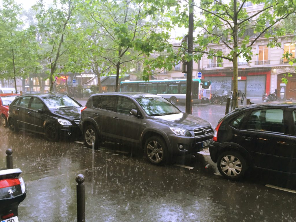 And this is what Paris looks like when there is zero percent chance of rain