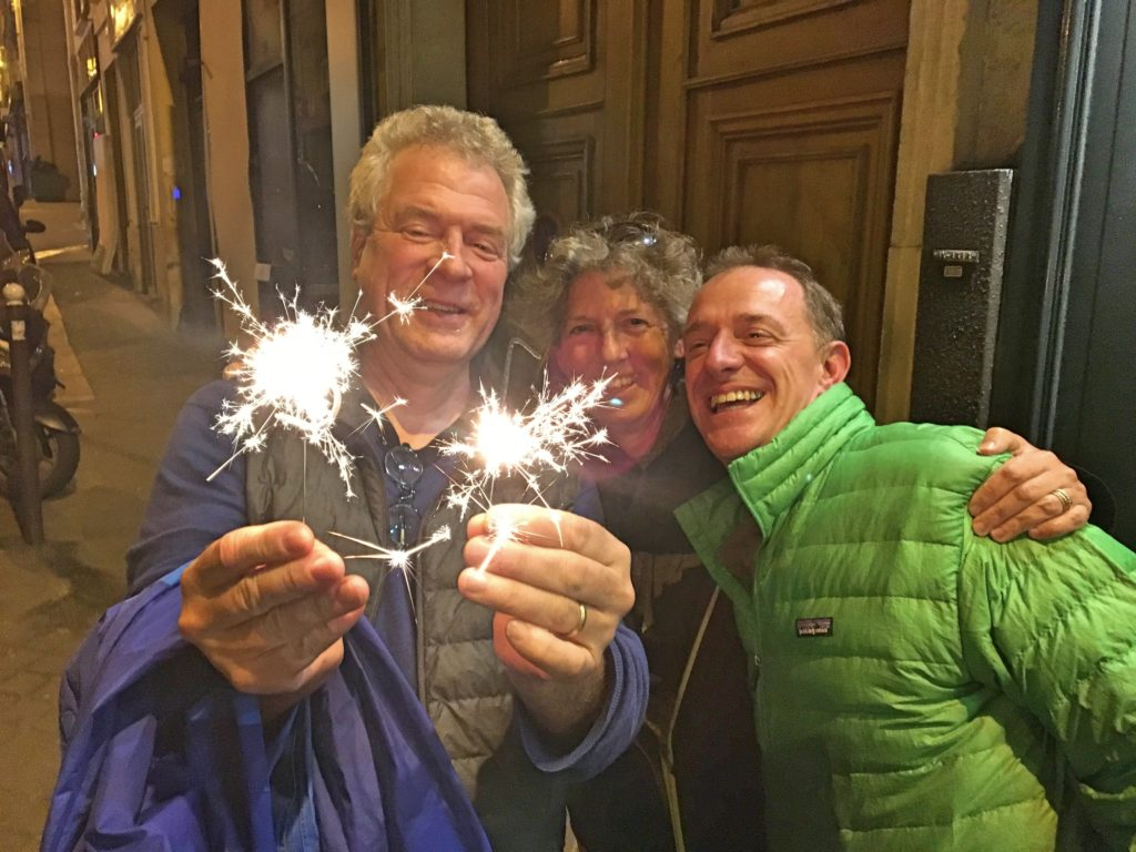 Finally, our last night was Mark's birthday dinner. We don't make a big deal out of these things, but Bart & Ann had found little 5 and 1 sparklers to celebrate his 51st birthday. Thanks guys!