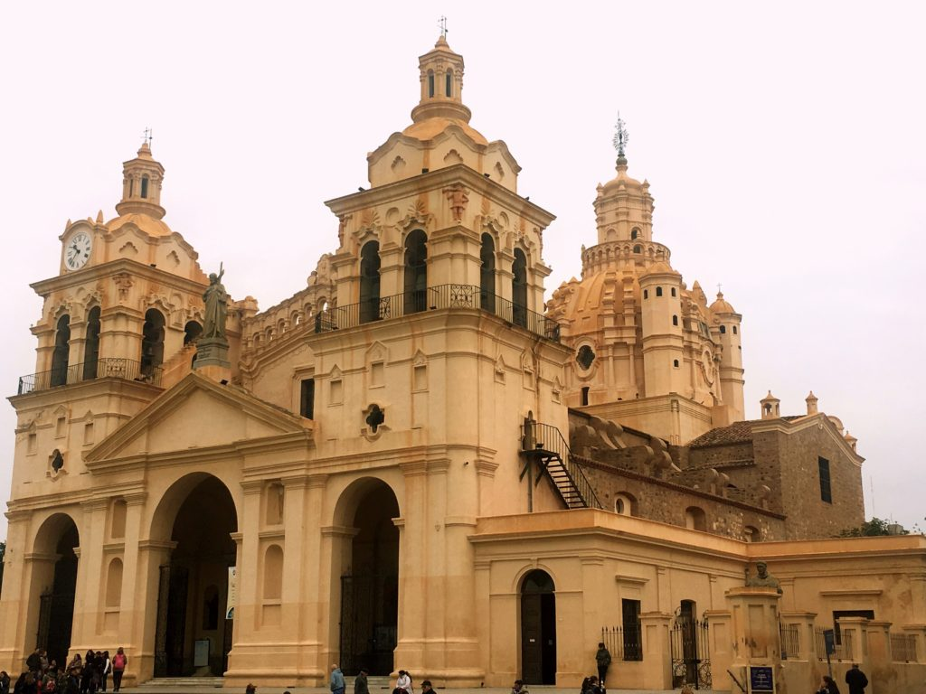 Córdoba's cathedral with it's beautiful Romanesque dome overlooks Plaza San Martin, the city's main square