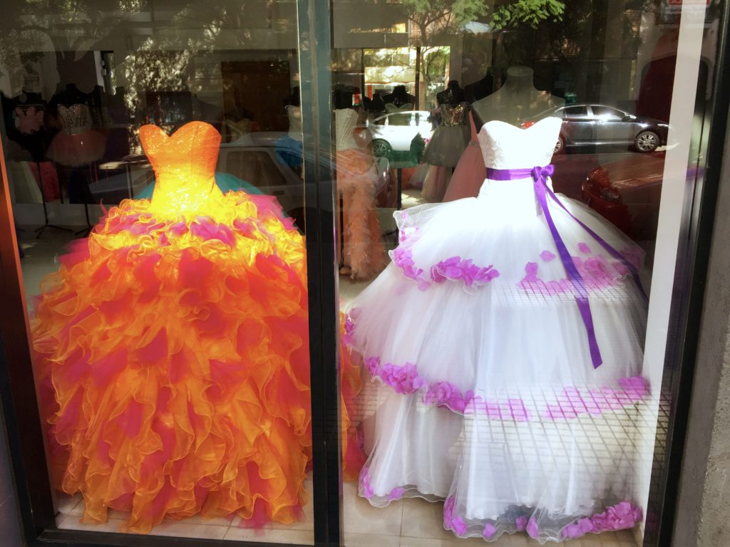 And finally, we loved this display in the window as we walked by. I mean, what  bride wouldn't want to see her bridesmaids in … that?