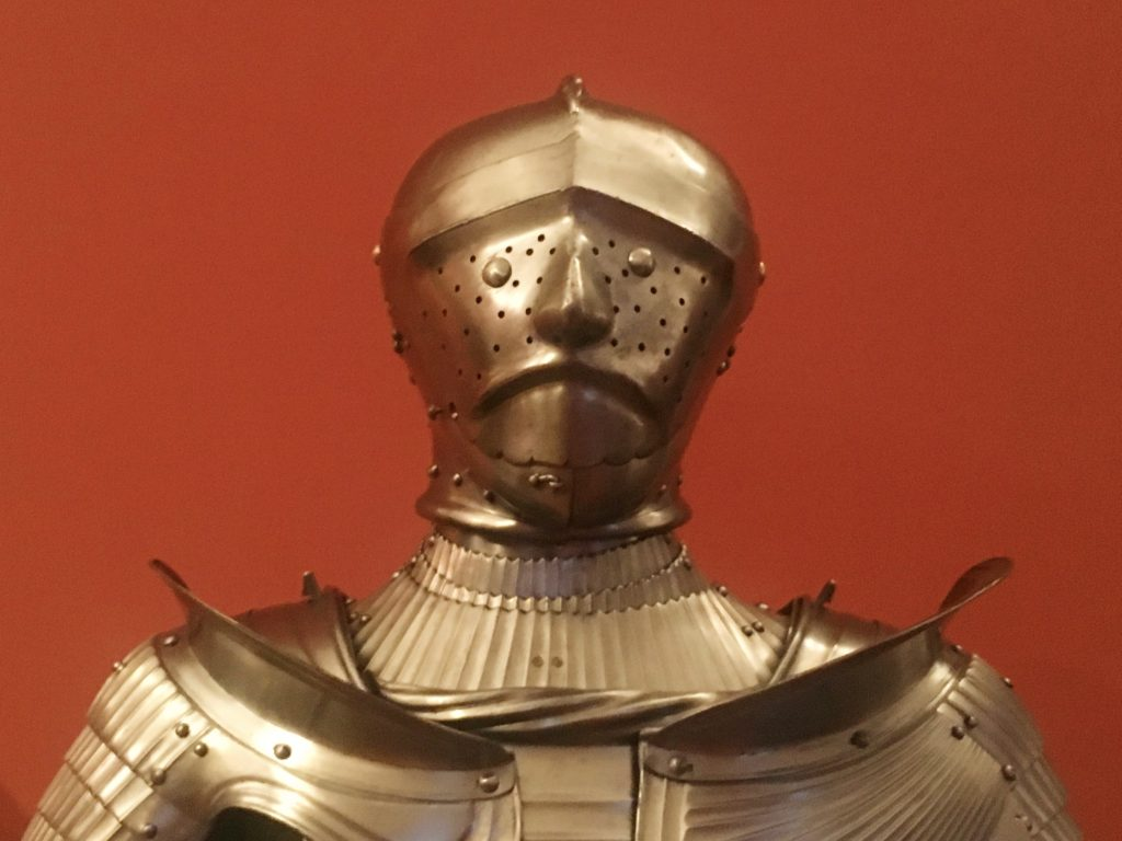 We passed pretty quickly through a museum of weapons and armor, including this strange guy