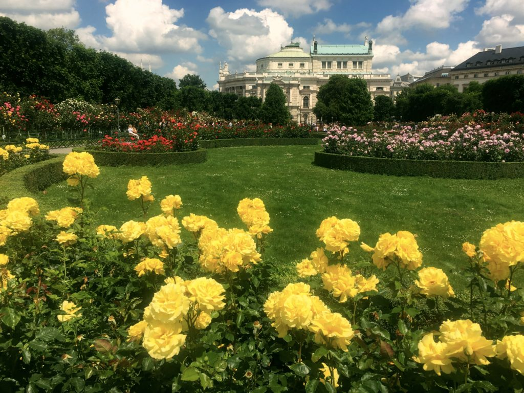 Vienna is full of beautiful parks, beautiful flowers, and beautiful buildings