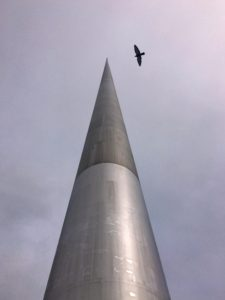 The Spire of Dublin rises nearly 400 feet from the city center, described as the world's largest sculpture