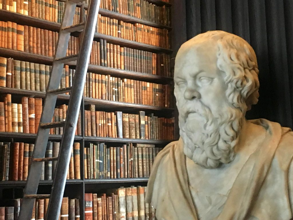 Socrates soaking up wisdom in the Long Room