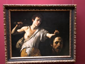 The Kunsthistorisches Museum had lots of great art, including this Caravaggio of David & Goliath