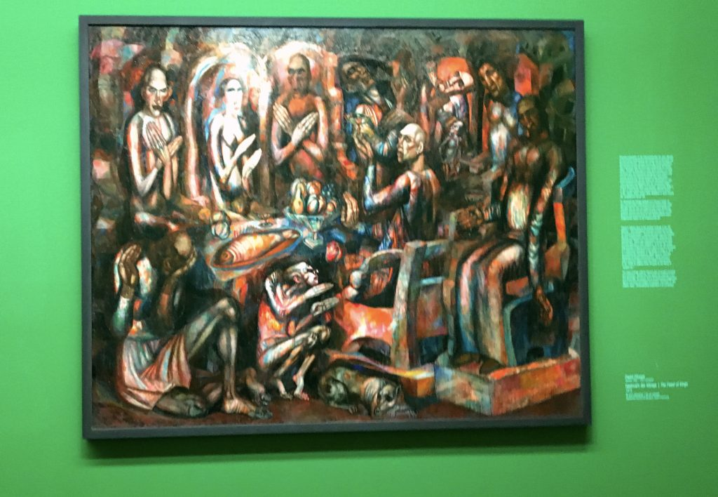 "There was an exhibit of early 20th century Russian avant garde artists. This ""Feast of Kings"" by Patel Filinov, done in the run up to World War I, has a pretty grim sense of where the world was going."