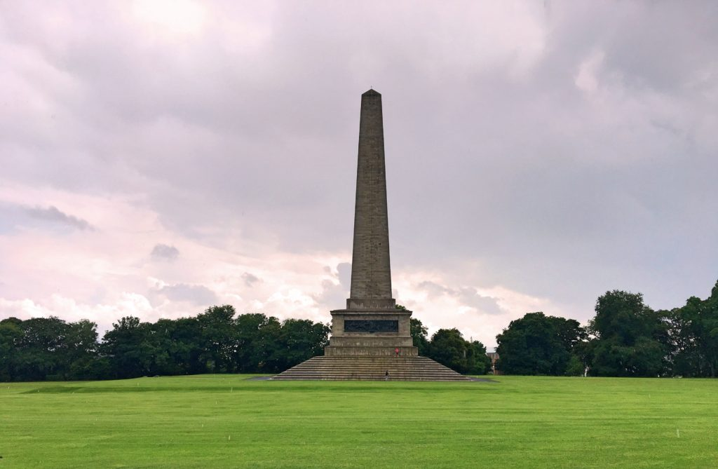 The Wellington Monument in Phoenix Park. Comprising some 1,750 acres, Phoenix Park is one of the largest parks in Europe. It even has a herd of wild deer!