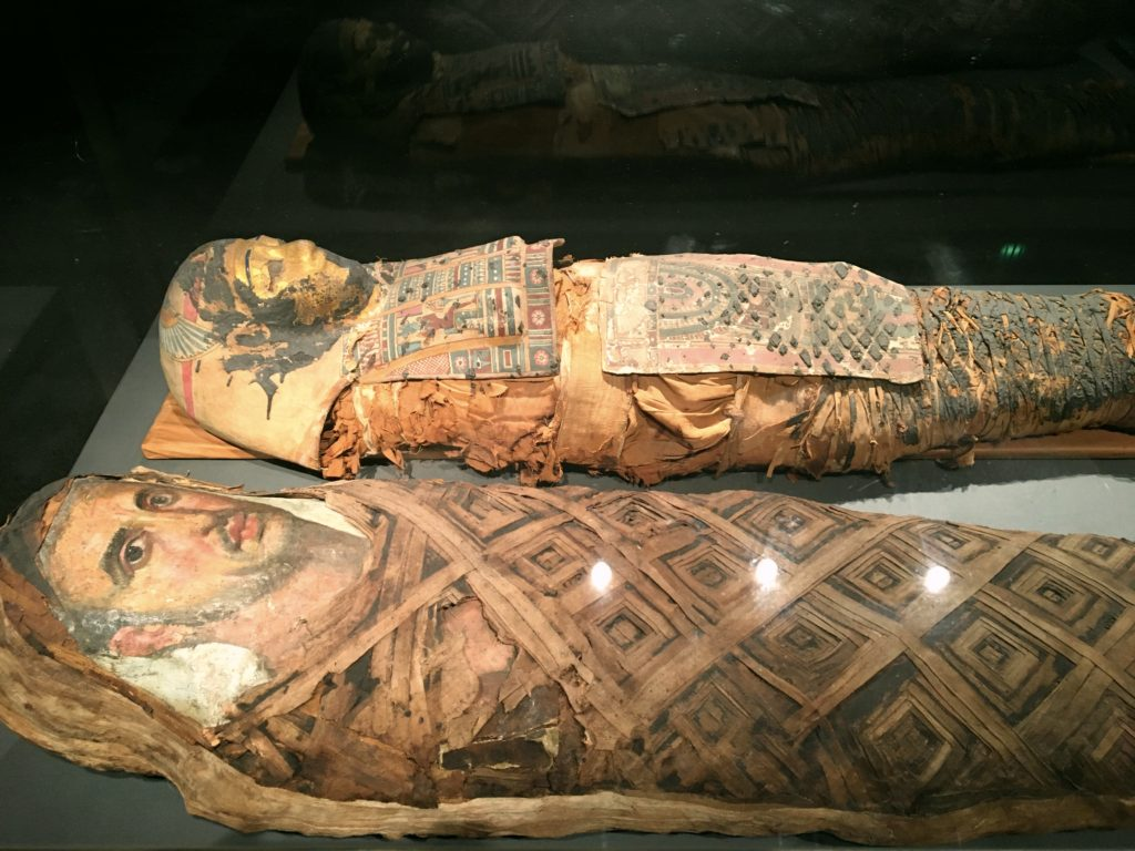 A highlight was the Ny Carlsberg Glyptotek, a great museum with antiquities, lots of statues, French masters, and a temporary Gaugin exhibit. Here we have some 4,500 year old Egyptian mummies.
