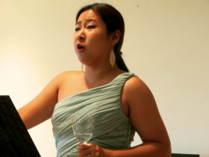 Jiwon Cornelia Choi, an opera student, performing at our little hotel. It was quite the treat.
