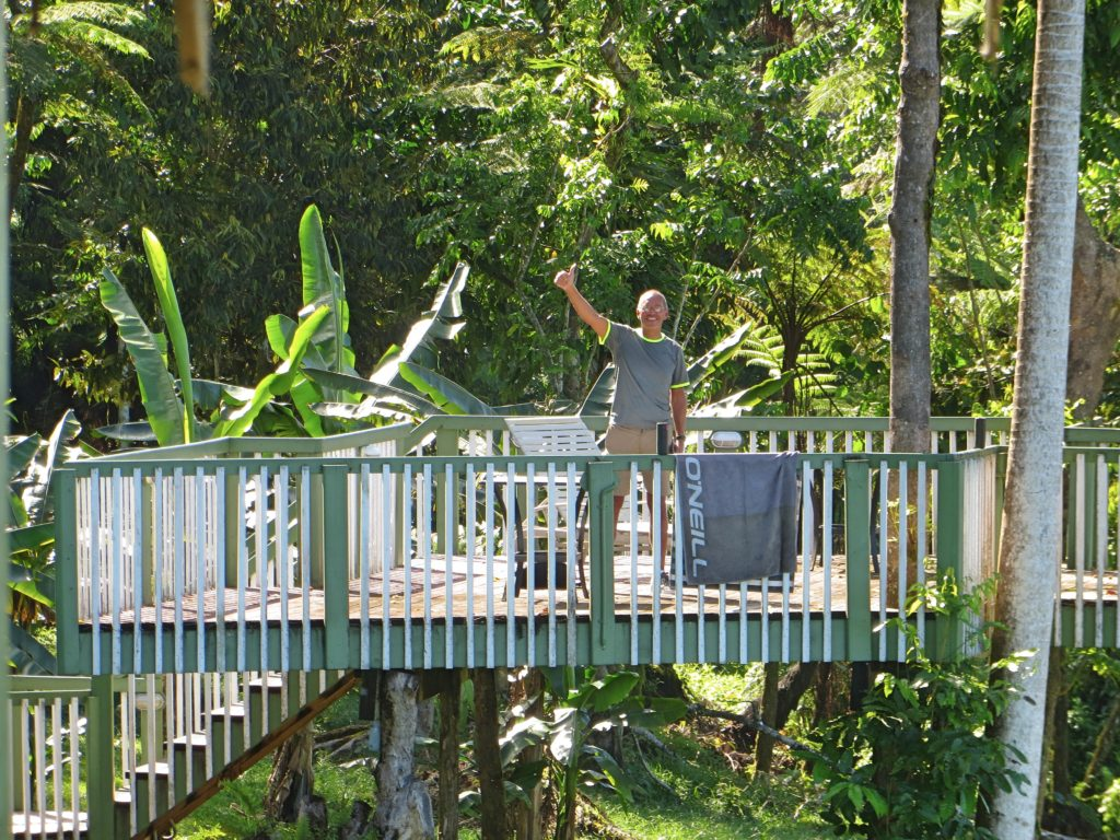 The Treesort also had a great sun deck, a lovely spot to spend the morning reading while overlooking the island's south coast