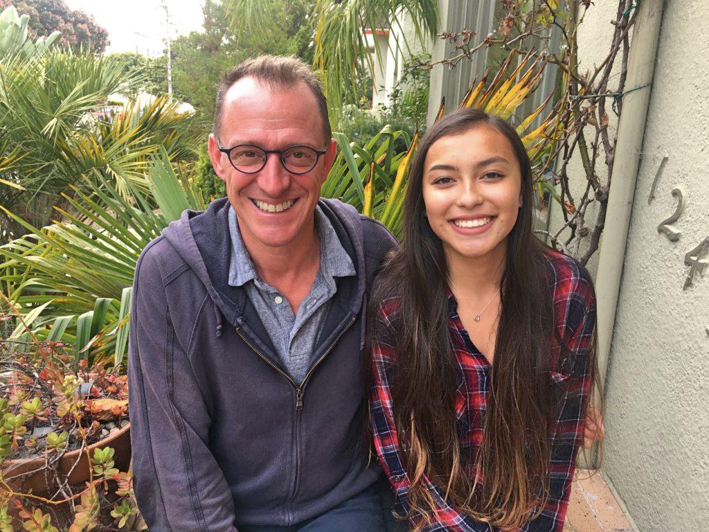 Mark & Ava outside John's house