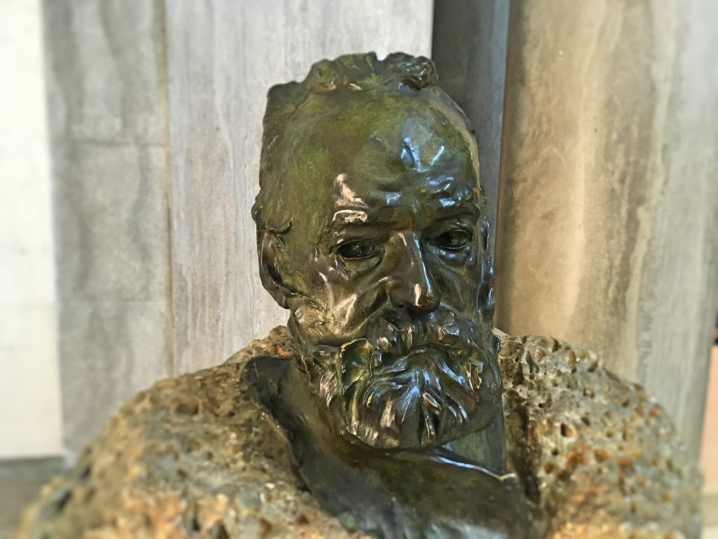 Now it's all about the art. This was a bust of Victor Hugo, one of Mark's favorite authors, by Rodin.