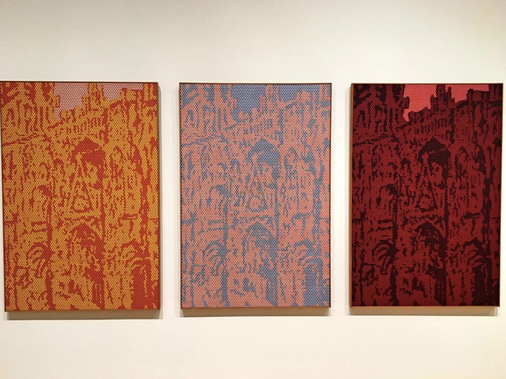 And speaking of places we've been, this is Roy Lichtenstein's take on Monet's paintings of the Cathedral in Rouen