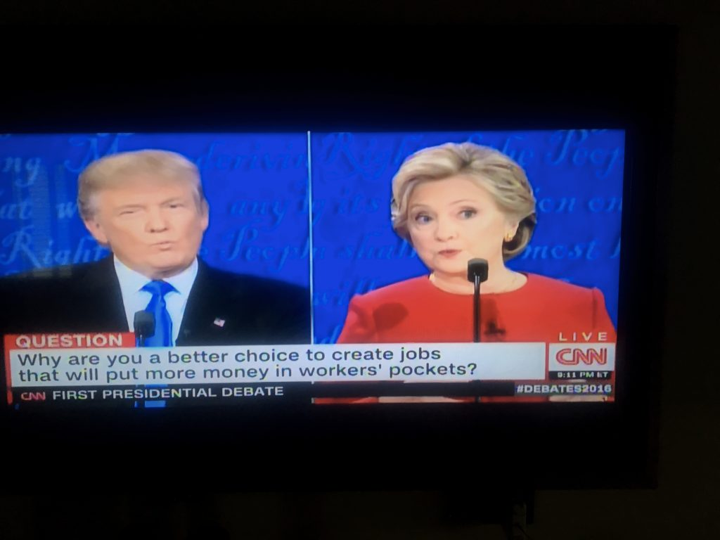 Since this blog is mostly about creating a permanent record of this crazy adventure we're on, it couldn't be complete without a vivid reminder of the great 90 minutes we spent watching Hillary Clinton dismember Donald Trump