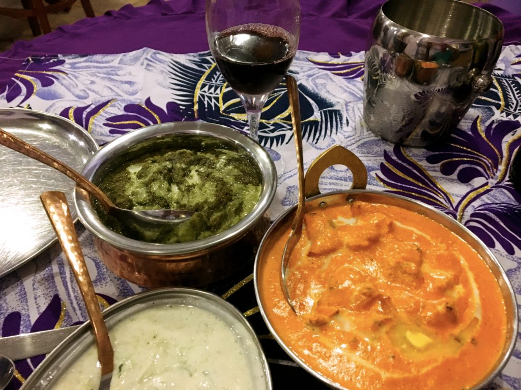 We found a great Indian restaurant in Apia. Great food, big portions, chilled red wine, all at half the price of any other decent restaurant in the city.