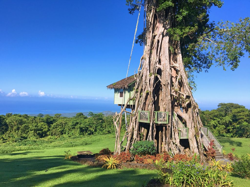 The cabin with a fabulous view of 'Upolu's south coast