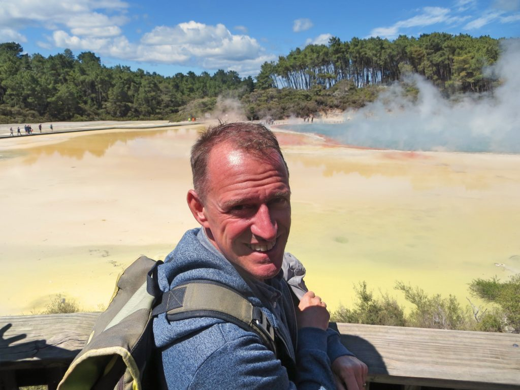 And one last picture of Mark and some sulphuric lake