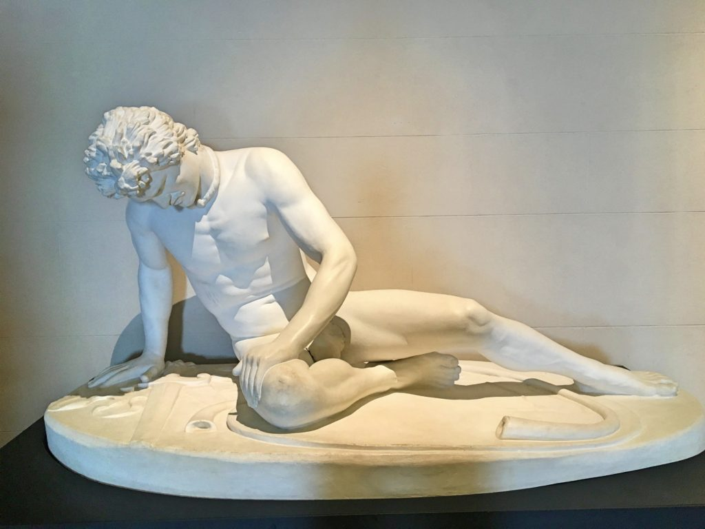 Then there was this copy of a statue that we saw last summer in Rome, the Dying Gaul. I loved the statue in Rome, but there was no explanation why the copy was here, in a museum about Maori culture.