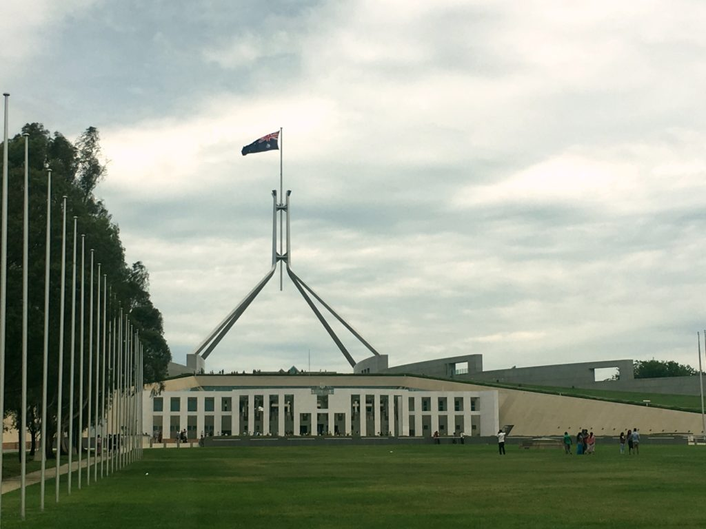Australia's modern Parliament building, opened in 1988