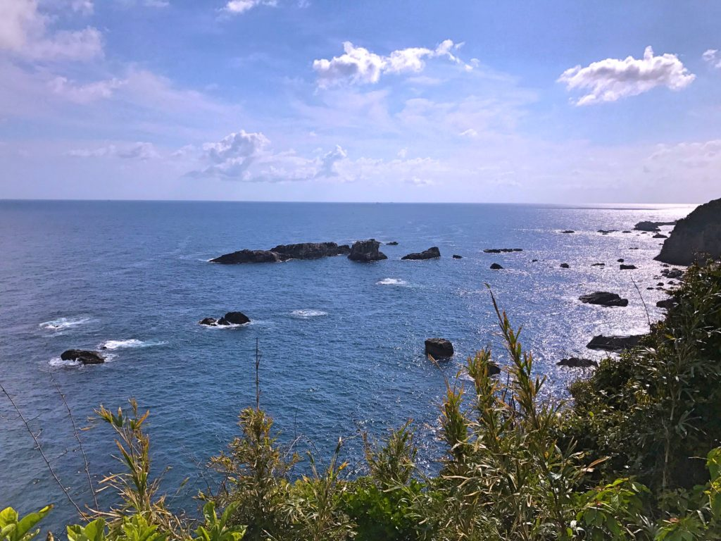 The view from Cape Ashizuri, the southern tip of Shikoku
