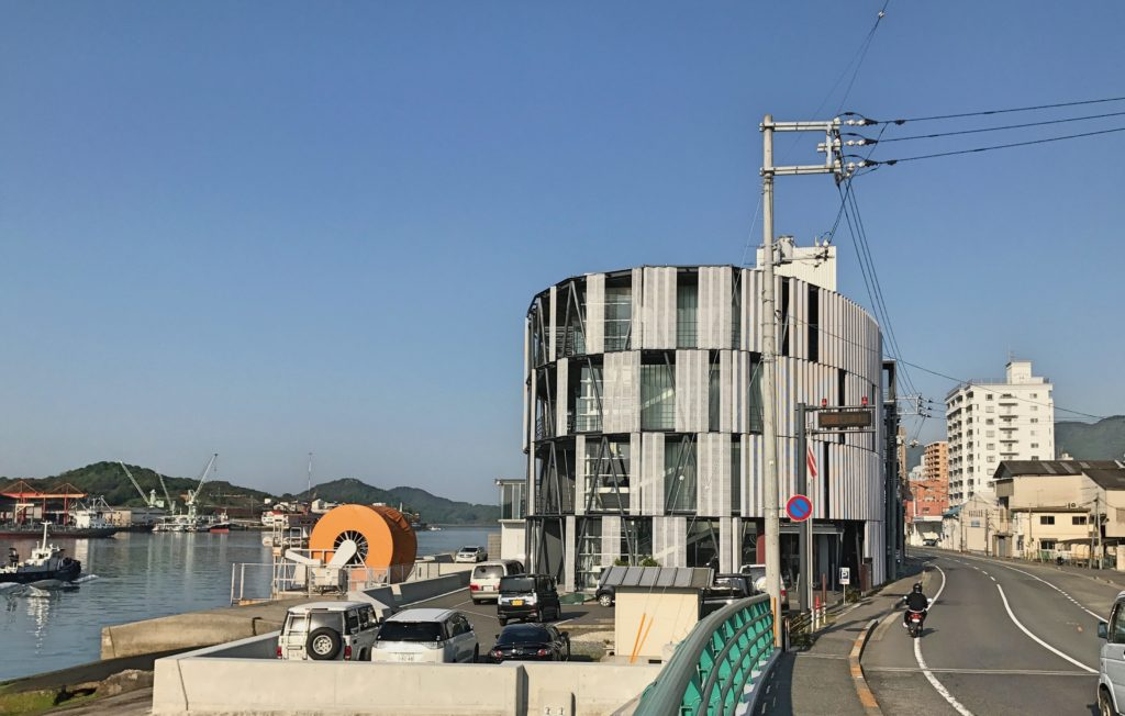 And finally, our last morning before heading back to Kyoto I went walking around Onomichi. Finally the sun had come out in all its glory and there in front of me was the world's strangest fire station. Yup, that's a fire station.
