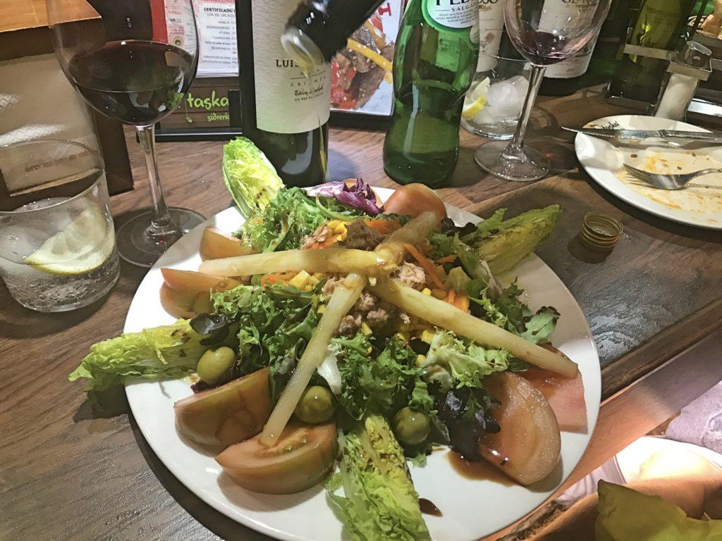 Salads here are wonderful