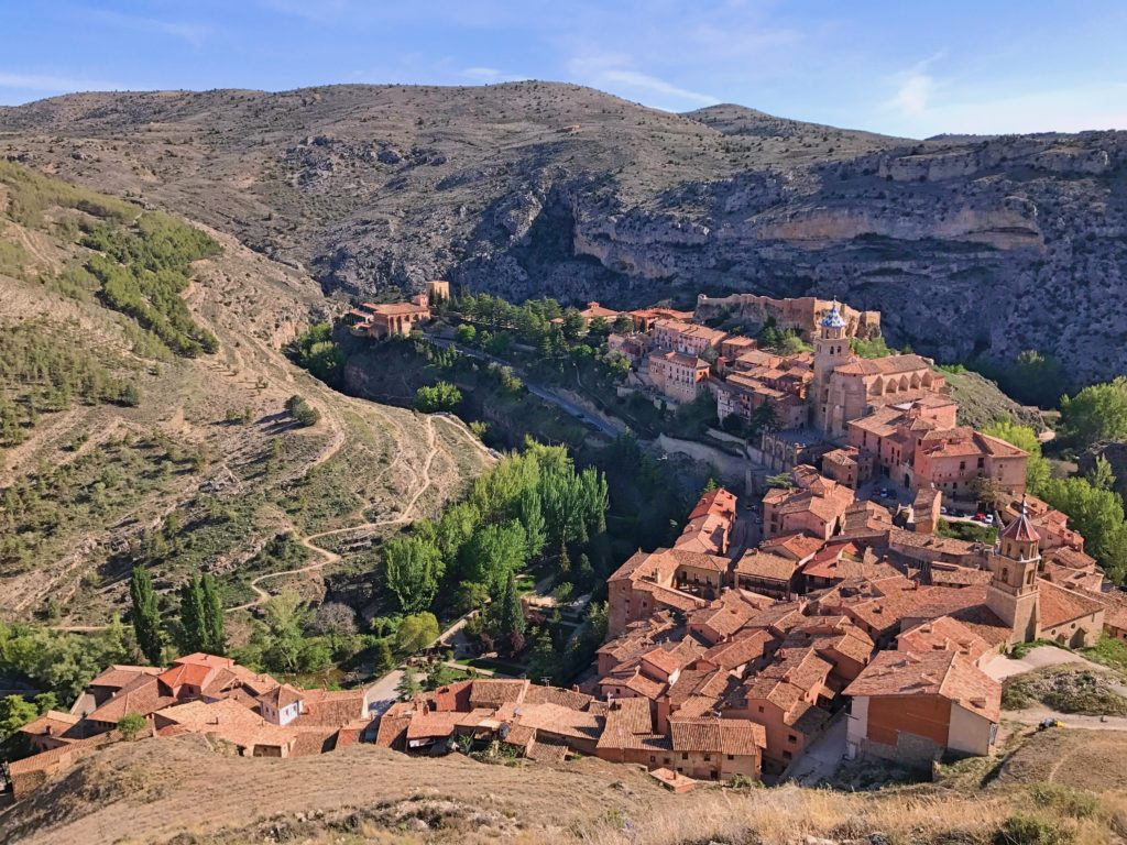 And a view of Albarracín from up at the Walkway Tower. You can see how the river has carved out a valley with the town just jutting out.