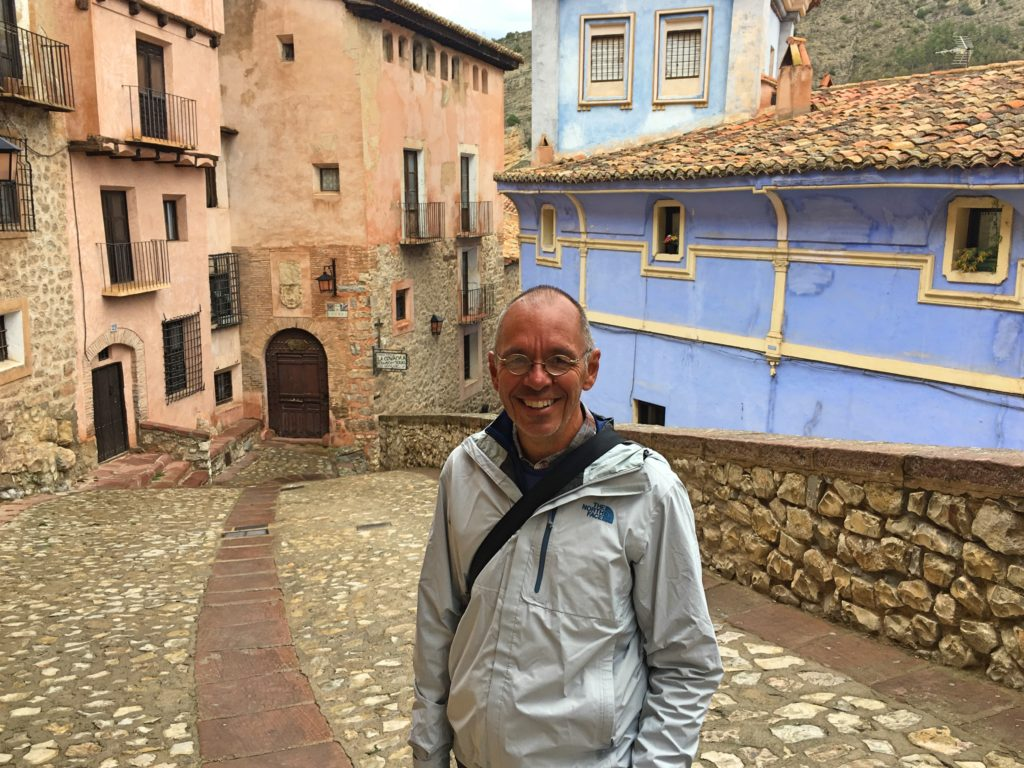 The raincoat came in quite handy in Albarracín
